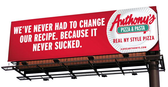 Market differentiation by local pizza shops