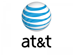 The brand logo of AT&T