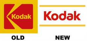 Kodak's old and new logo