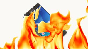 Galaxy Note 7 fire hazard