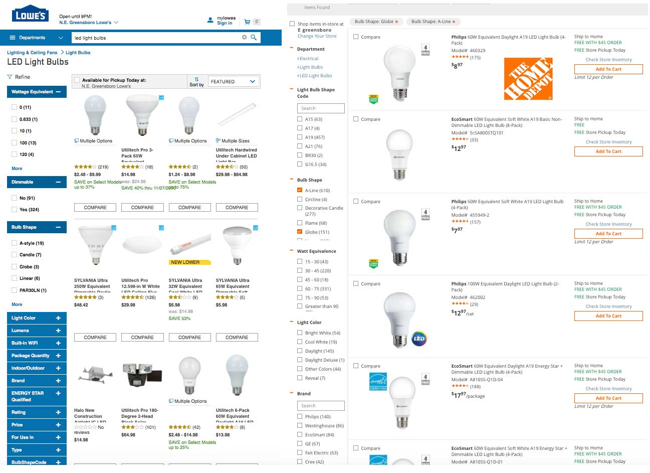 Cree LED Lightbulbs