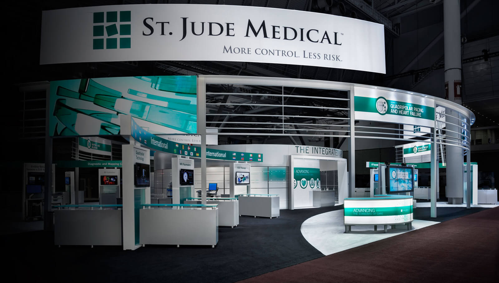 St. Jude Tablet tradeshow booth developed by Stealing Share
