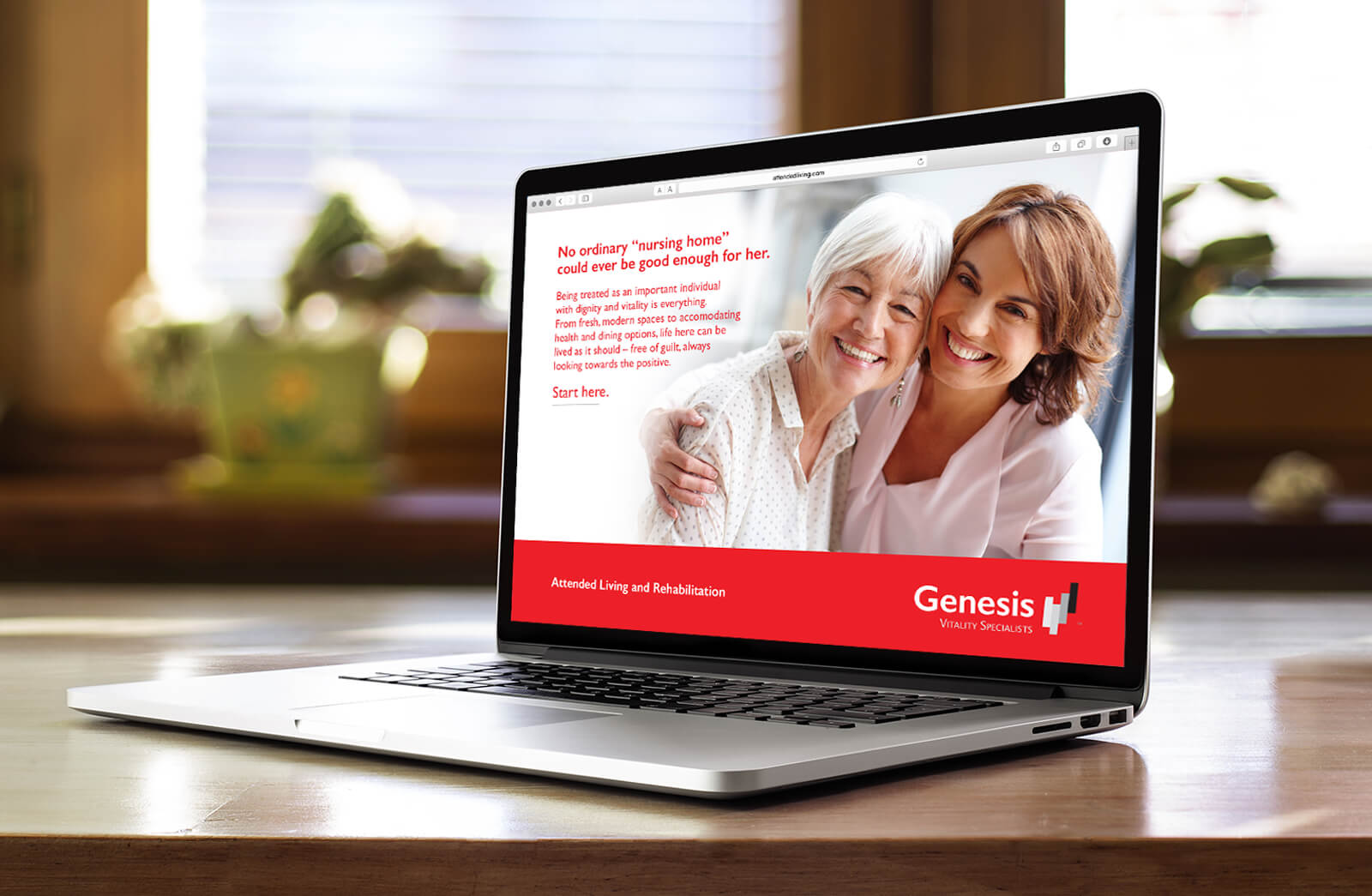 Genesis HealthCare Website developed by Stealing Share
