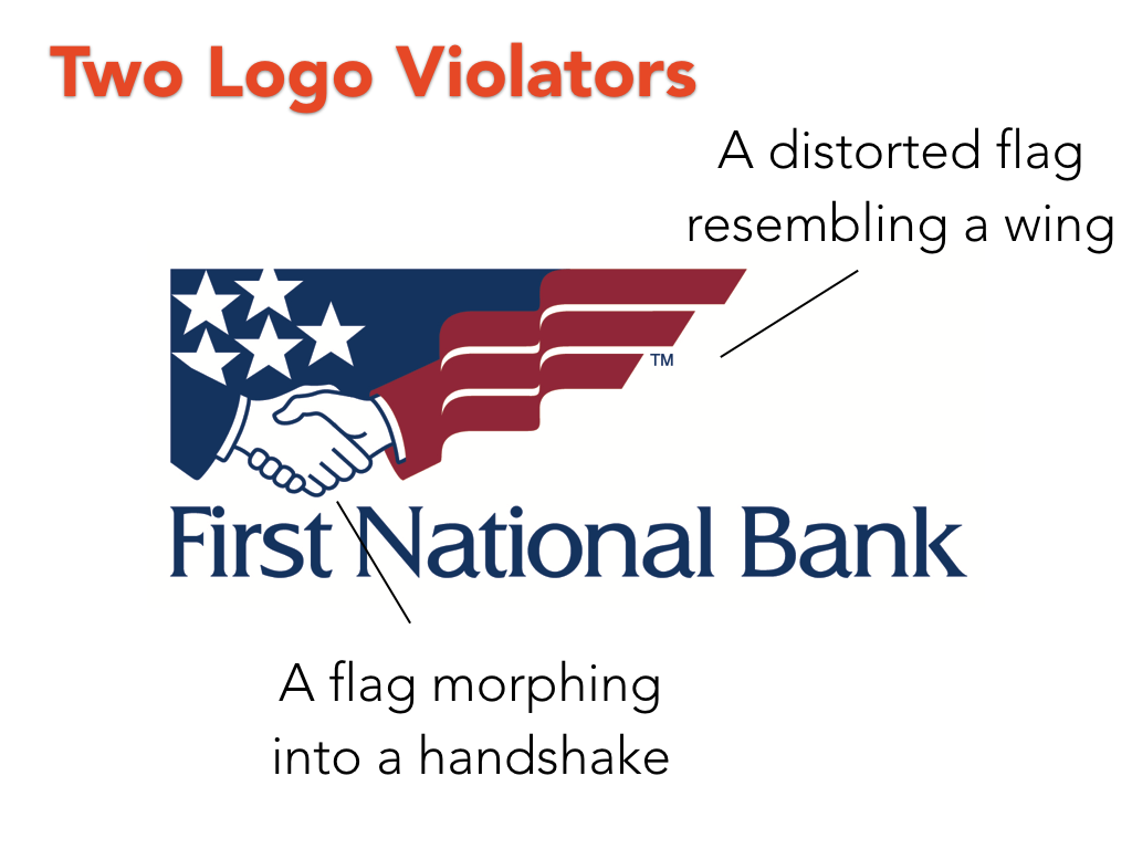 First National Bank logo and corporate identity