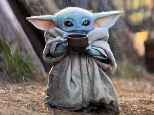 Baby Yoda With His Little Cup Is All of Us