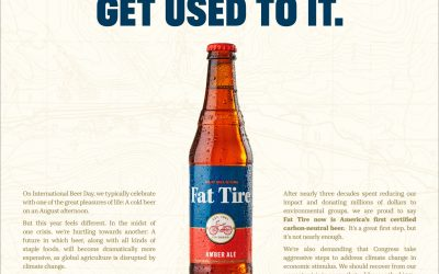 The $100 Fat Tire beer? It's right on brand.