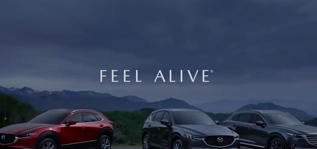 Mazda ad with smart tagline for COVID-19 era