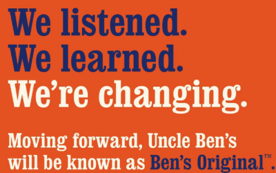 Brand renaming: Uncle Ben and Aunt Jemima